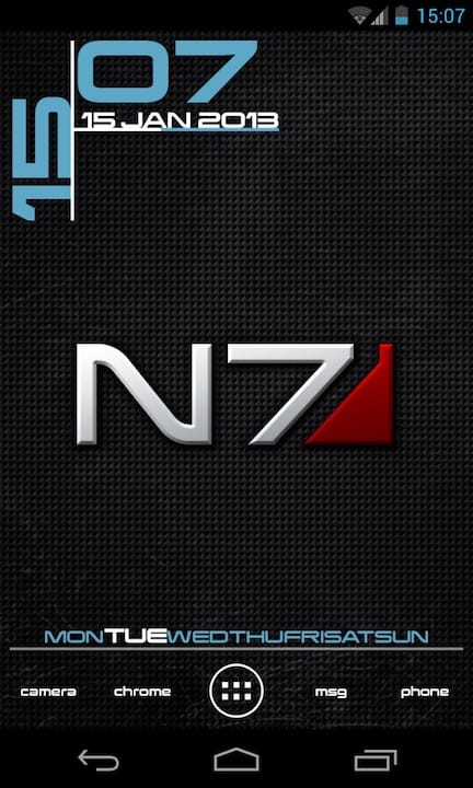 N7 Homescreen